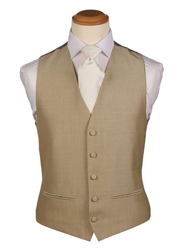 Beige Plain Waistcoat
