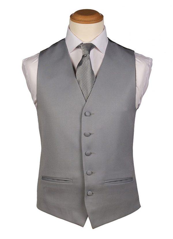 Dove Grey Plain Waistcoat
