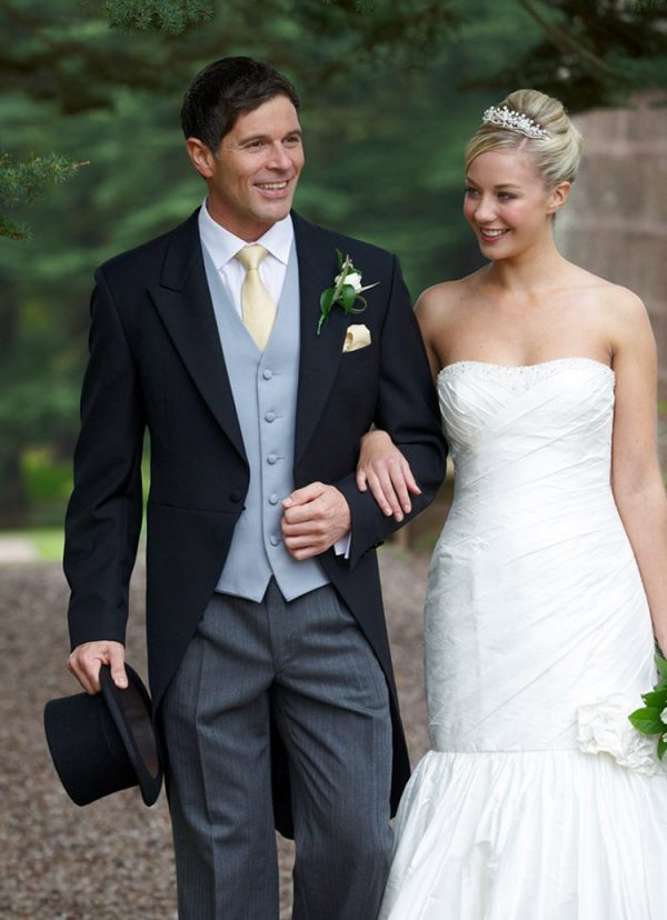 Eaton, traditional black tailcoat,timeless, lightweight, tailored fit, perfect for any wedding.