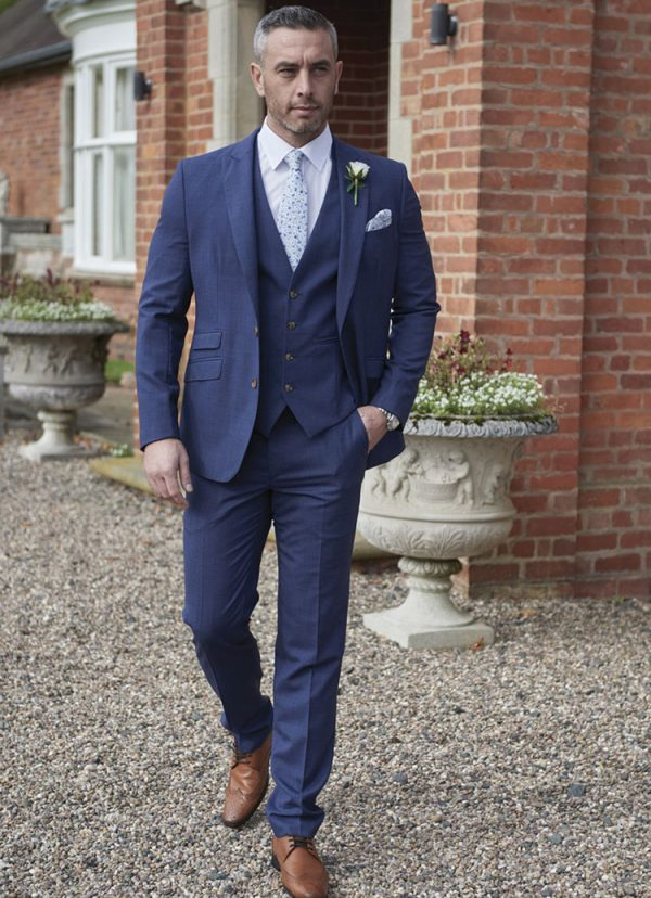 Hadley Lounge suit, with a discreet pattern in the fabric, a classic design with a modern twist.