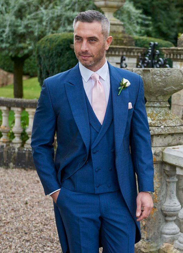 Lydbury, fabulous Royal Blue Tailcoat suit, a real classic with a modern edge perfect for any wedding.