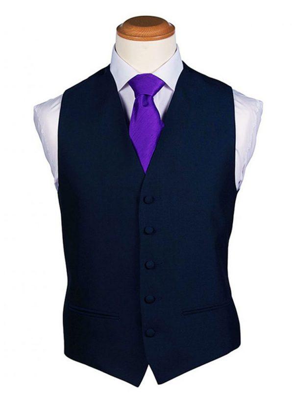 Navy Blue Plain Waistcoat