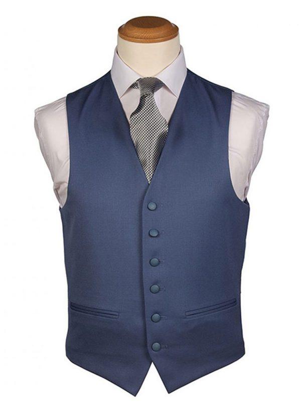 Pale Blue Plain Waistcoat