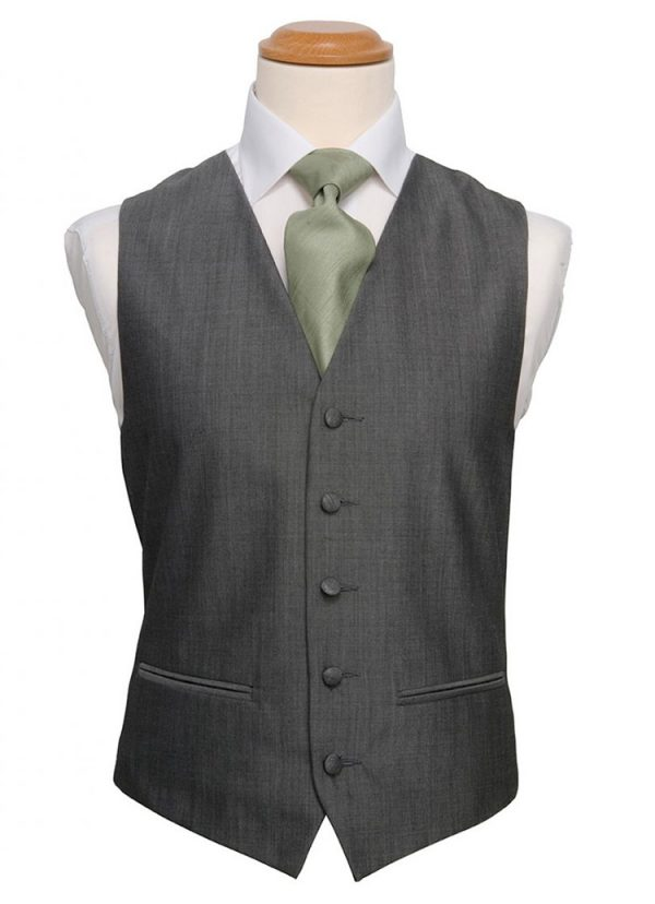 Silver Grey Plain Waistcoat